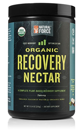 Natural Force® Recovery Nectar – ORGANIC Post Workout and VEGAN Recovery Drink – Certified Paleo Post Workout w/ Coconut Water and Hemp Protein, Non-GMO Recovery Accelerator, 9.14 oz.
