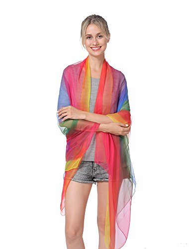 (NovForth Women Pure Color Lightweight Breathable Scarves 80