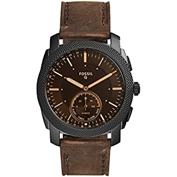 Fossil Mens Machine Stainless Steel Hybrid Smartwatch with Activity Tracking and Smartphone Notifications