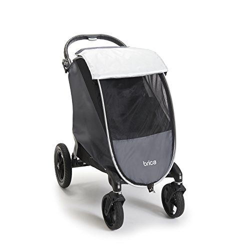 Brica Shield UPF+ 50 Weather and Insect Stroller Cover, Grey