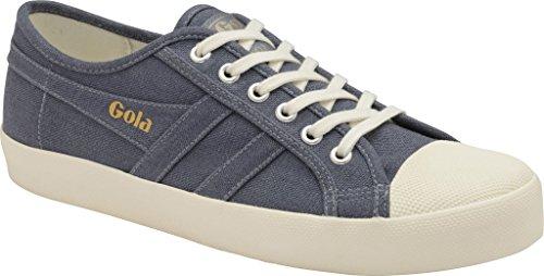 Gola Women's Coaster Linen Sneaker,Slate Blue/Off White Linen,US 9 M