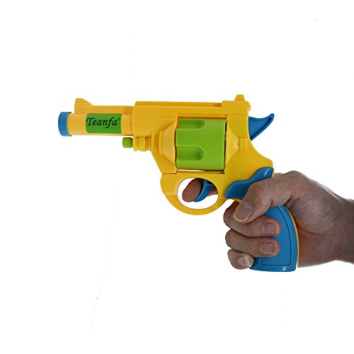 Teanfa .45 ACP British Bull-Dog Revolver Toy Gun with Soft Bullets, Rotating Cylinder, Top Break Action, 1:1 Replica of a .45 Bull-Dog and 5 Extra Bullets