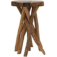 Deco 79 39190 Teak Wood Small Stool, 18 x 22