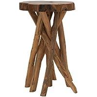 Deco 79 39190 Teak Wood Small Stool, 18 x 22