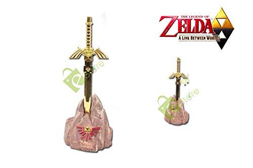 Legend of Zelda Hylian Gold Master Sword Letter Opener with rock base (Letter Opener Video Game)
