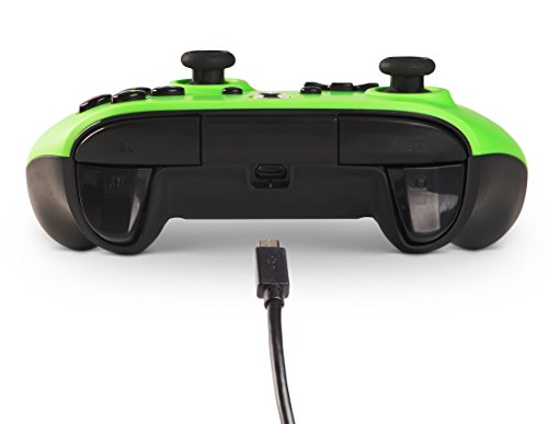 41QBT4QuekL - PowerA Enhanced Wired Controller for Xbox One - Green - Xbox One