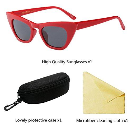 Voyageant Protection Soleil d'oeil pour de Chat de Lunettes la Conduite UV400 Femmes Zhuhaitf de Red des Vacances 4FB6wBPq