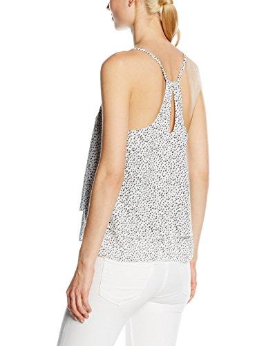 Solo Capri Balze a Pois Bianco, Top para Mujer Multicolor (POIS PICCOLI CIPRIA)