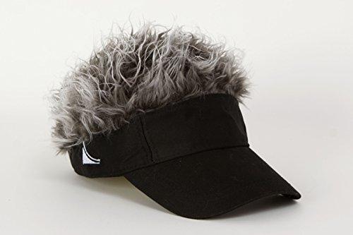 Flair Hair Men's Velcro Hat Cap Visor (Black w/ Blonde ()