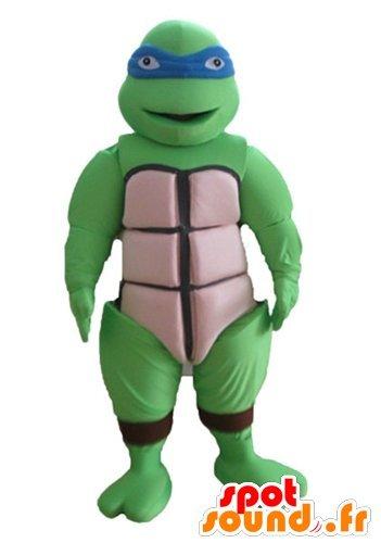 mascota SpotSound de Leonardo, famosa tortuga ninja, azul ...