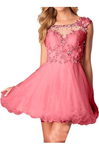 Zaertlich Applikation Ballkleider Abendkleid Wassermelone Damen Cocktailkleid Ivydressing Blumen 5qppSg