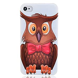 Cartoon Owl Plastic Protective Hard Case Cover for iPhone4/4S