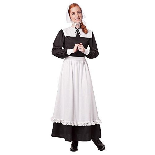 California Costumes Women's Pilgrim Woman Adult, Black/White, X-Large ()