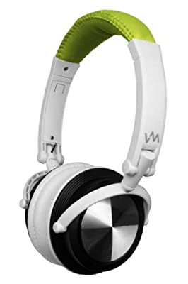 VM Audio SRHP3 Stereo MP3/iPhone iPod Over Head On Ear DJ Headphones Lime/White