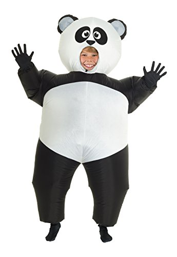 Morph Giant Panda Kids Inflatable Blow Up Costume - -