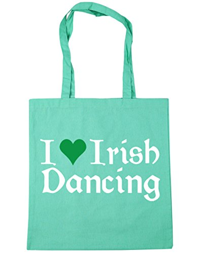Irish 42cm x38cm Dancing 10 HippoWarehouse Gym Tote litres Love Mint Beach Bag I Shopping wqEBCgE