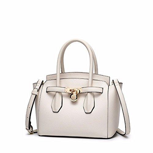 2012 nueva moda bolso de la cerradura, la primavera y el verano salvaje solo ala bolsa de hombro, bolso,Blanco Blanco