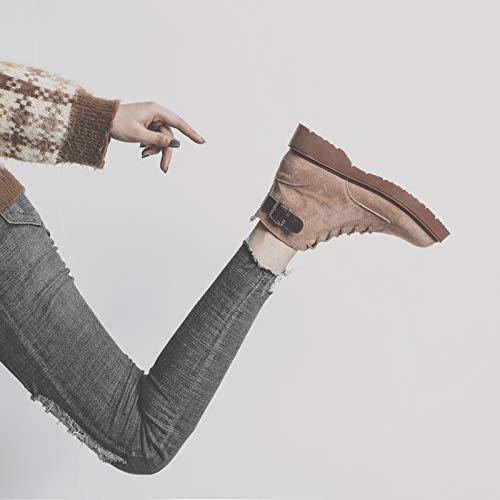 Shukun Stiefeletten Martin Stiefel Weibliche Retro Winter Baumwolle Kurze Baumwolle Winter Kurze Stiefel 9b554c