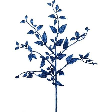 Vickerman L154202 Blue Magnolia Glitter Leaf Spray - 22 in. - 12 per Bag ()