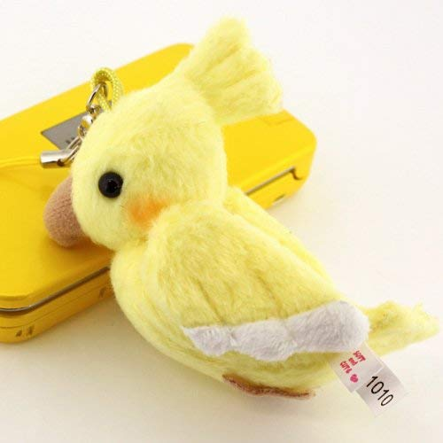 Bird Plush Doll Cell Phone Charm (Cockatiel/Yellow)