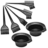 Hair Dye Color Brush and Bowl Set, Hair Color Brush Mixing Bowl Kit Perfect Tools for Hair Tint Dying Coloring Applicator, 7 Piece Set. (7 Piece set)