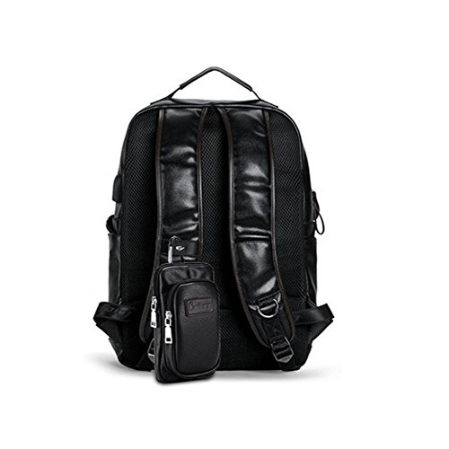 cuero aire Bolso casual B de Moda B computadora Al Los libre la mochila de Bolsos de mochilas hombres C1w6q8
