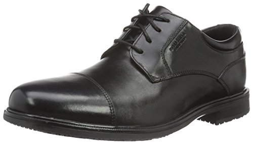 Uomo Stringate II Scarpe Detail Captoe Leather Rockport Black Black Essential OwYxIa