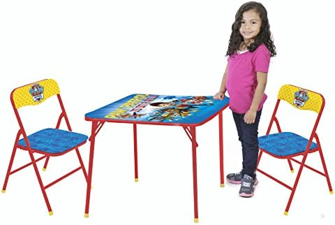 Nickelodeon Paw Patrol 3 Piece Kids Table Chair Set Toy Amazon