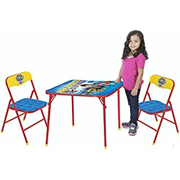 Amazon Com Nickelodeon Paw Patrol 3 Piece Kids Table Chair Set