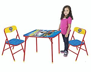 nickelodeon paw patrol 3 piece kids table chair set toy toys games. Black Bedroom Furniture Sets. Home Design Ideas