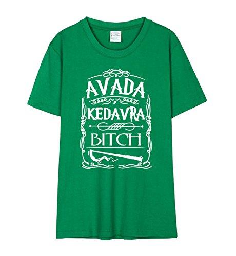 Lettera Donna Maglietta Tops Avada Girocollo Corte Shirt Estive Green2 Kedavra AmanGaGa Stampa Maniche Moda Camicie T Popolare Bluse dvwSRdPFqx