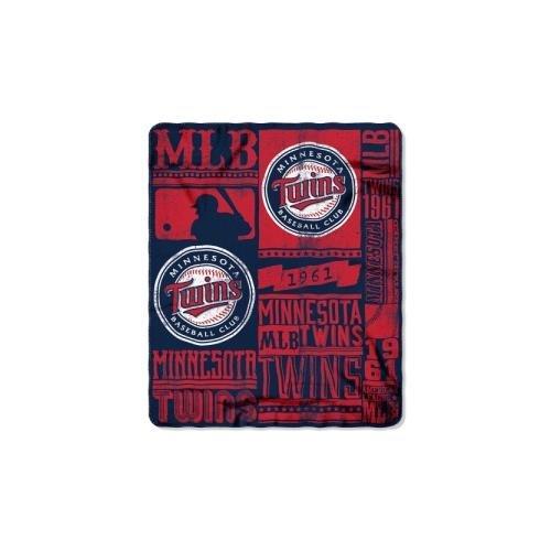 The Northwest Company MLB Minnesota Twins Printed Fleece Throw, One Size, Multicolor