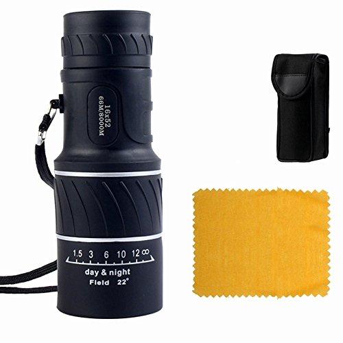 New seller: HaleBor 16X52 Monocular Telescope/Monocular scope Dual Focus Optics Zoom Telescope for Birds watching/Hunting/Camping/Hiking/Tourism