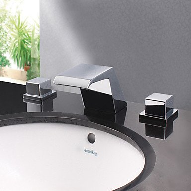 HMer Modern Chrome Finish Designer Spout Waterfall Sink tap