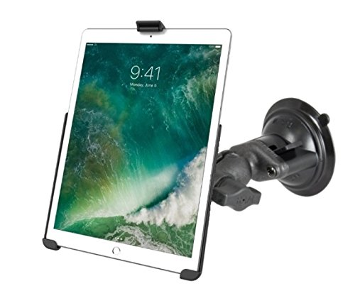 RAM Short Arm Suction Cup Windshield Car Mount Holder for Apple iPad Pro 10.5""