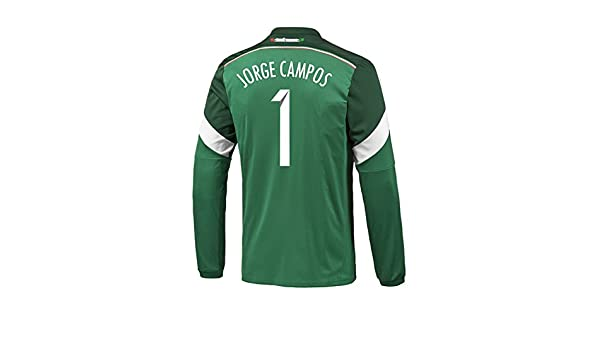 Amazon.com: Adidas JORGE CAMPOS #1 Mexico Home Jersey World Cup 2014 (Long Sleeve) (S): Clothing