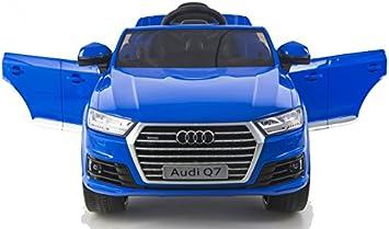 simron Audi Q7 Quattro SUV Elektro Kinderauto Kinderfahrzeug Ride-On 12V Kinder Elektroauto blau