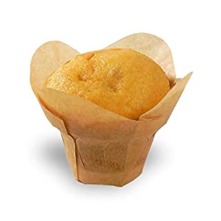 """Lotus Golden Brown Silicone Baking Cup Liner (Case of 1000), PacknWood - Gold/Brown Parchment Paper Cupcake Liners (4 oz, 3.1"""" x 1.5"""") 209CPSL3M"""