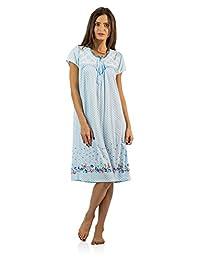 Casual Nights Women's Flowery Short Sleeve Nightgown