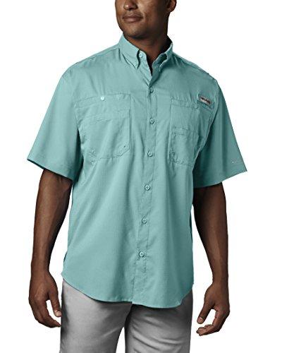 Columbia Men's Tamiami II Short Sleeve Fishing Shirt (Gulf Stream, Small)