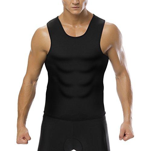 Men Waist Trainer Corset Vest for Weight Loss Hot Neoprene Body Shaper Tank Top Sauna Suit Shirt No Zip Trimmer Size L