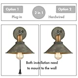 Vintage Swing Arm Wall Sconces Hardwired or Plug-in