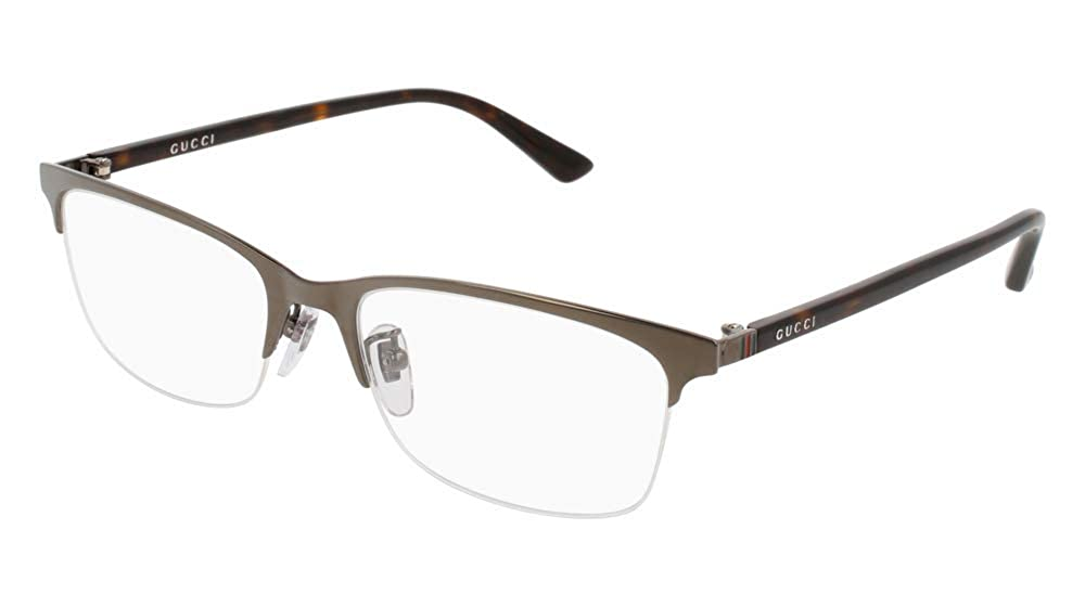 731284a4d38f7 Amazon.com  Gucci Men s Eyeglasses GG0132OJ GG 0132 OJ 001 Black Titanium  Optical Frame 56mm  Clothing