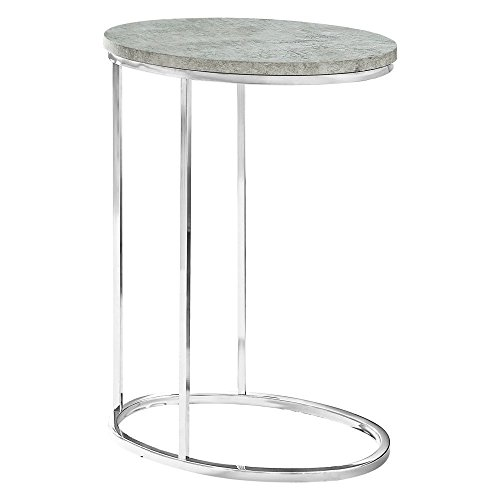 (Indoor Multi-function Accent table Study Computer Desk Bedroom Living Room Modern Style End Table Sofa Side Table Coffee Table Oval Accents)
