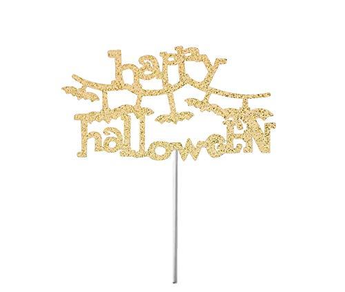 Cheyan Happy Halloween Cake Topper, Spider Cake Topper, Spider Wed Cake Topper, Fall Party Decorations, Halloween Glitter Cake Decor, Spooky -