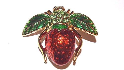 - Joan Rivers Strawberry BEE PIN Brooch