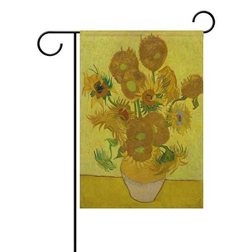 AnleyGardeflagsU Vincent Van Gogh Sunflowers Polyester Garden Flag Banner 12 x 18 Inch for Outdoor Home Garden Flower Pot Decor