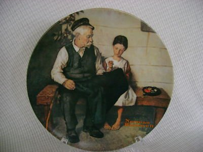 """NORMAN ROCKWELL""""THE LIGHTHOUSE KEEPERS DAUGHTER""""PLATE"""