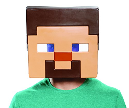 Minecraft Steve Heads (Disguise Men's Steve Adult Mask, Brown, One)