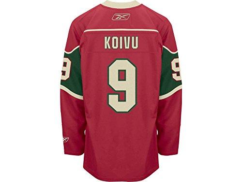 fan products of Reebok Minnesota Wild Mikko Koivu Premier Home Jersey Large